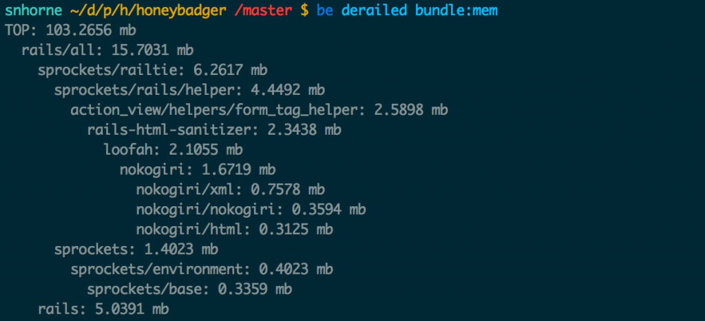 Use the bundle:mem command to see how much ram each of your gems uses at compile time