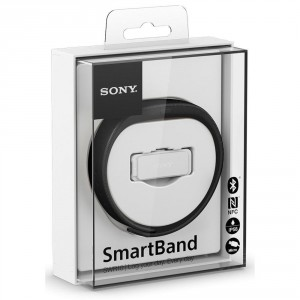 The Sony SWR10 smartband has a vibrate on alert feature